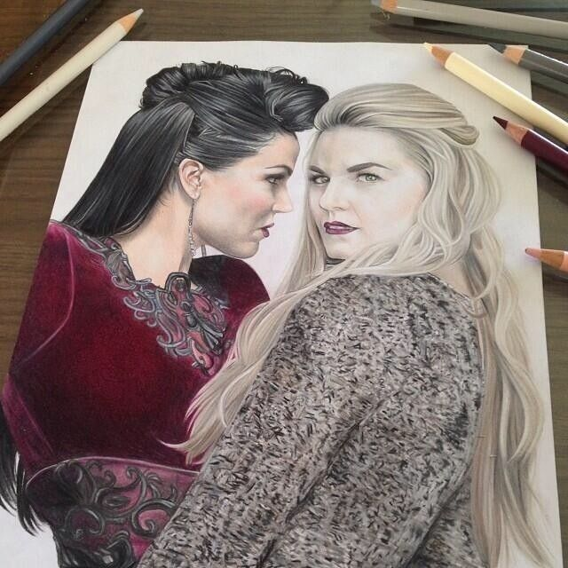 Amazing drawing!! Lots of talent in the OUAT fandom.