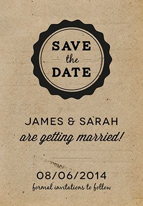 """""""Casual"""" printable invitation. Customize, add text and photos. print for free!"""