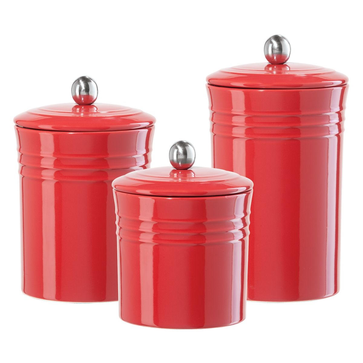 canister sets | The ribbed ceramic canister collection is a available in three sizes ...