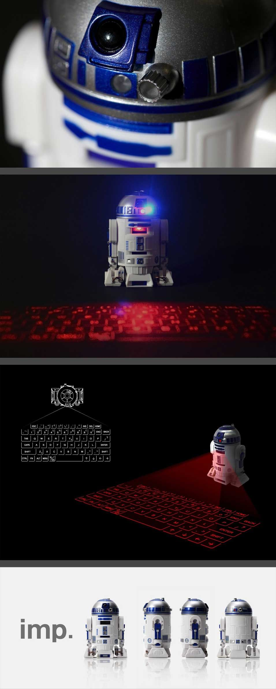 R2d2 Virtual Keyboard This R2d2 Unit Laser Projects A Full Qwerty