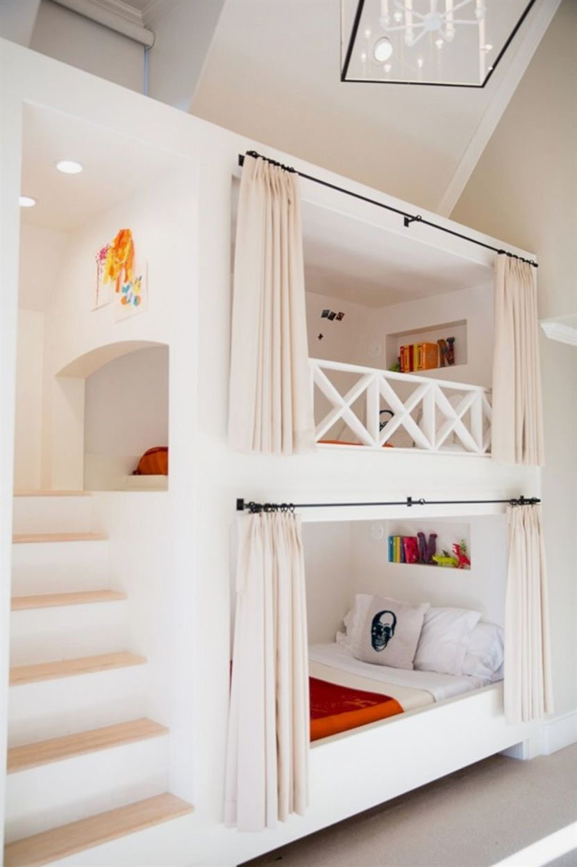 Queen size loft bed with stairs  GirlsBedroomIdeas  Dream home u diy  Pinterest  Bunk beds Bunk