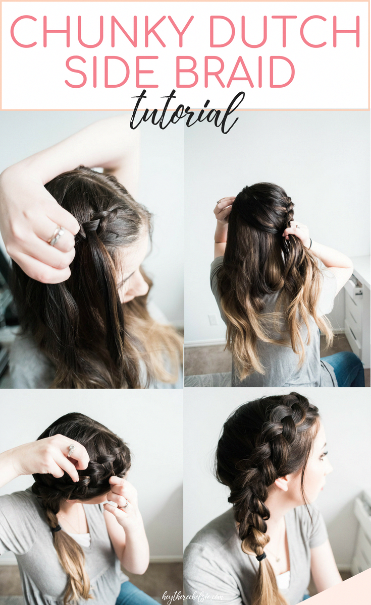 Latest No Cost An easy and quick Chunky Dutch Braid tutorial - here's how to acheive this beaut...  Suggestions   An easy and quick Chunky Dutch Braid tutorial – here's how to acheive this beautiful side braid #acheive #Beaut #Braid #Chunky #Cost #Dutch #easy #Heres #Latest #Quick #Suggestions #Tutorial #sidebraidhairstyles