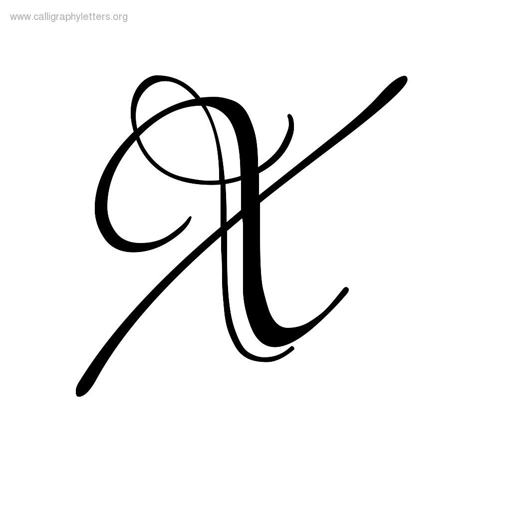 Calligraphy Letter X Jpg 1024 1024 X Tattoo Ink Lettering Lettering