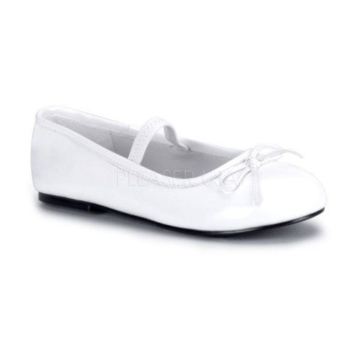 *STAR-16C, Children Shoes Wht Pat, Sizes S, M, L, XL. Pleesers USA. $15.58