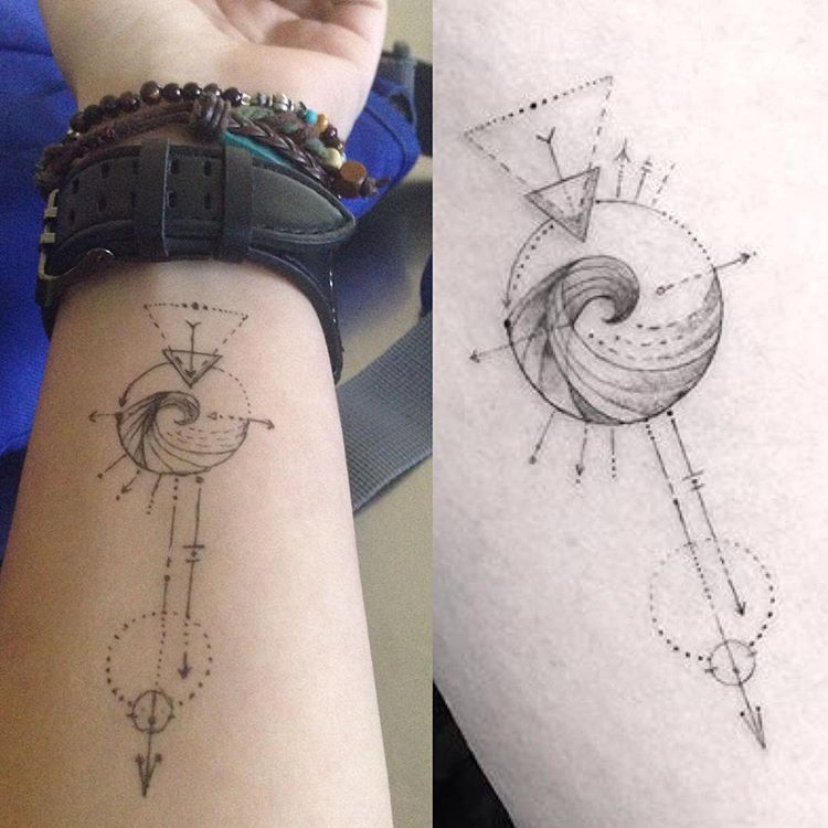 Aquarius geometric tattoo | Beauty | Pinterest | Geometric ...