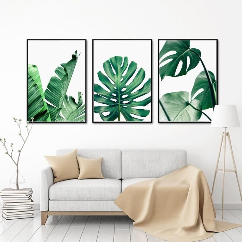Lush Green Leaves Posters Tropical Plants Flora Fine Art Canvas
