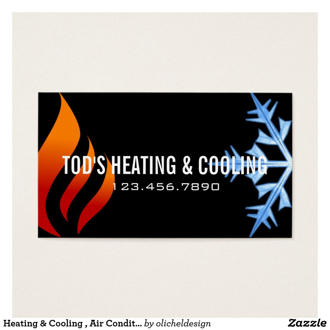 Heating & Cooling , Air Conditioning HVAC Business Card | Business cards