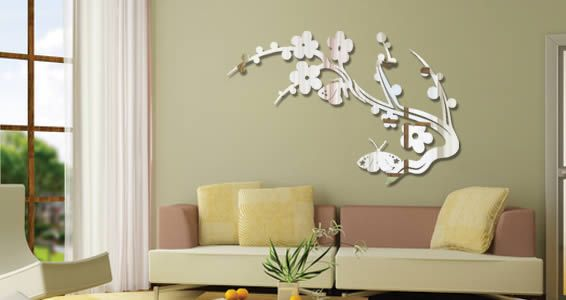 butterfly branch acrylic mirrors | decals & stencils | acrylic