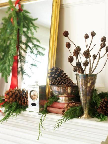 50 Gorgeous Holiday Mantel Decorating Ideas Mantels, Holidays and - christmas decorations for mantels