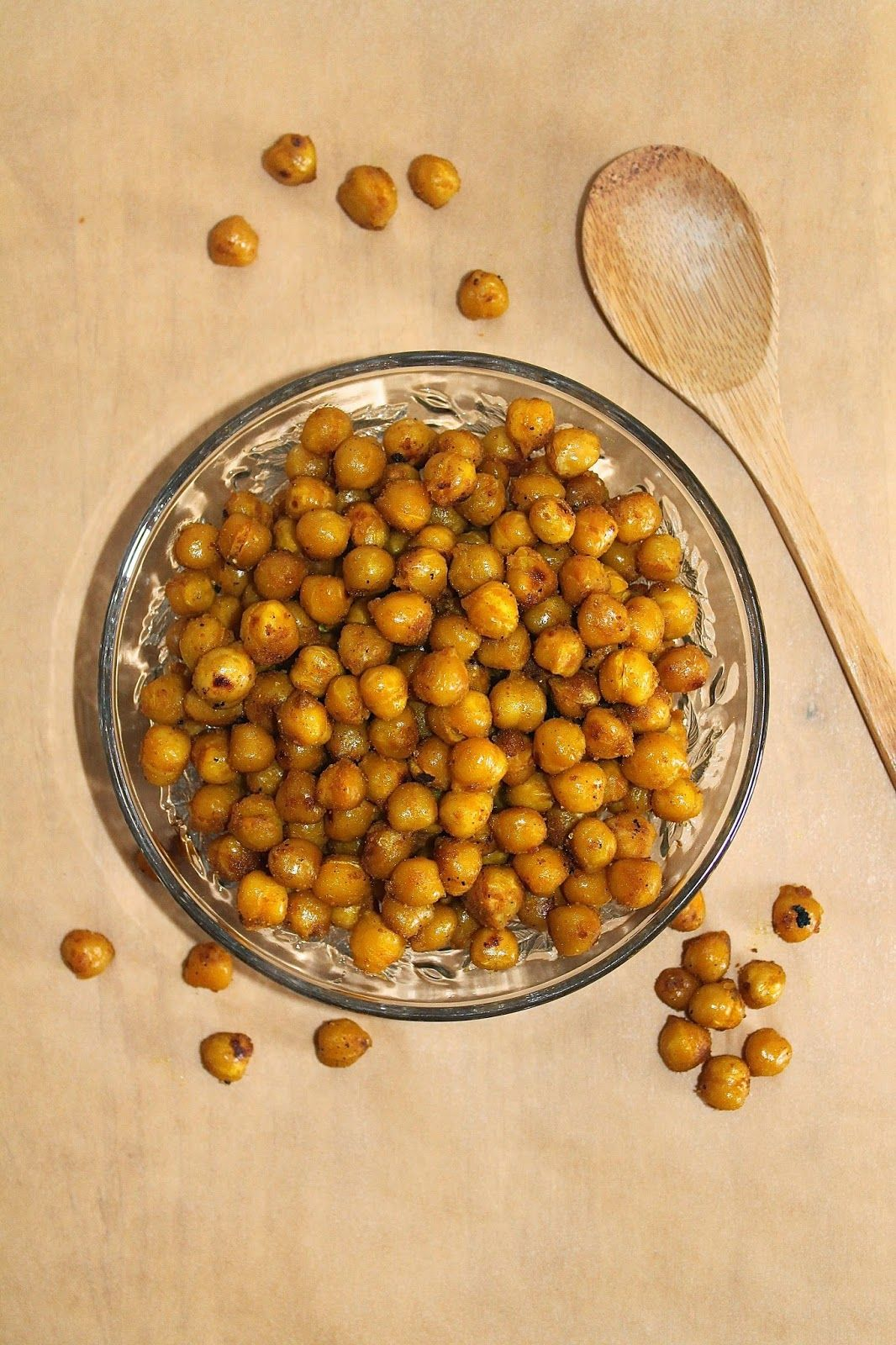 Savory Moments: Turmeric and honey roasted chickpeas {and an Organic Turmeric giveaway}