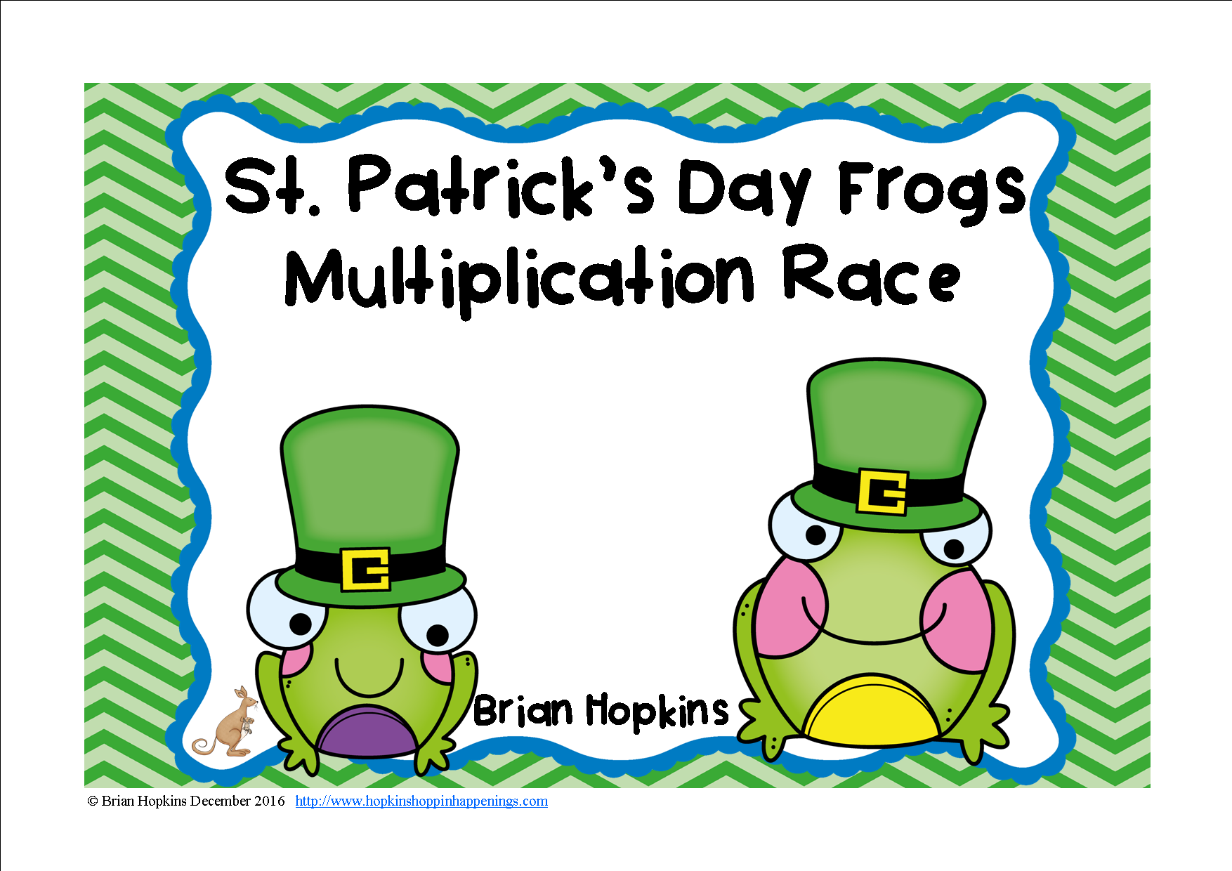 St Patrick S Day Frogs Multiplication Race