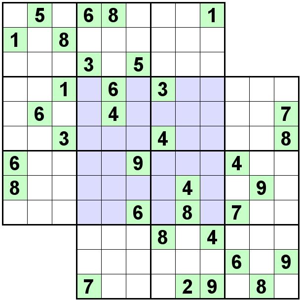 Number Logic Puzzles: 20484 - Sudoku size 9