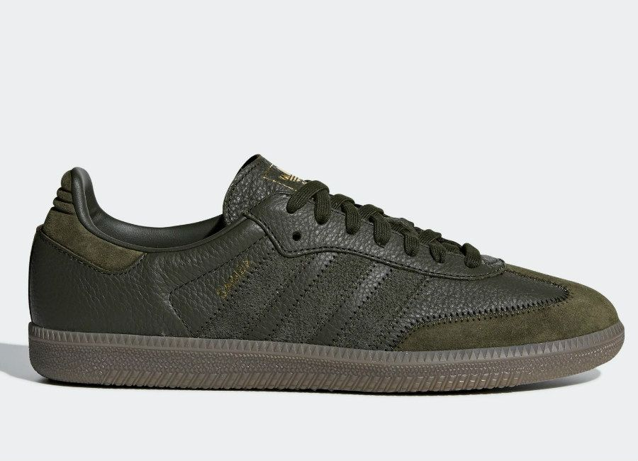 best sneakers ec152 f2c24 Adidas Samba OG FT Shoes - Night Cargo  Night Cargo  Gold Met