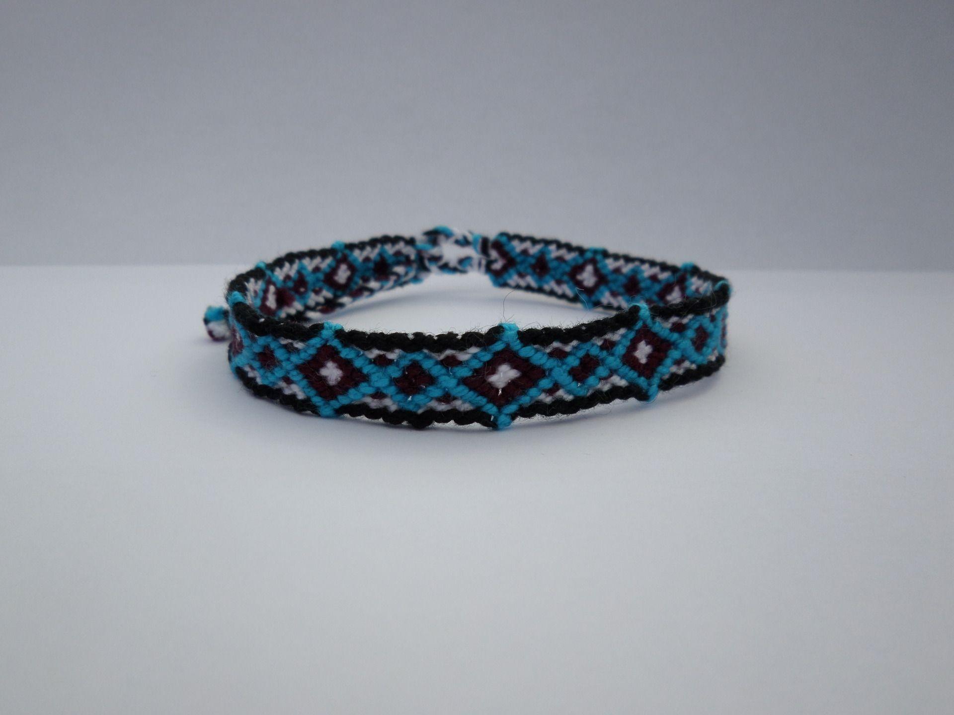 nouveaux styles b91a7 e326f Bracelet Brésilien homme modèle losange : Bracelet par ...