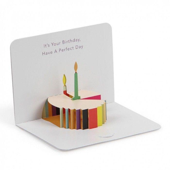 geburtstagskarte selber basteln pop up oder aufklappkarte mit anleitung cards kirigami and popup. Black Bedroom Furniture Sets. Home Design Ideas