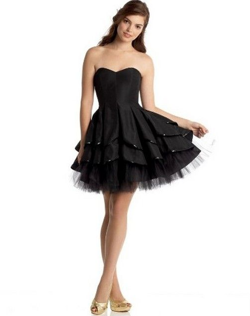Short Black Wedding Dresses