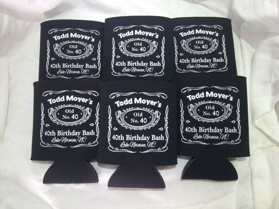 30th Birthday Koozies Personalized Lot Of 50 Custom Can