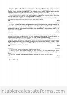 Free Installment Land Contract Printable Real Estate Document