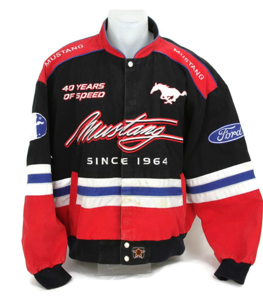 ford mustang since 1964 racing jacket 40th anniversary. Black Bedroom Furniture Sets. Home Design Ideas