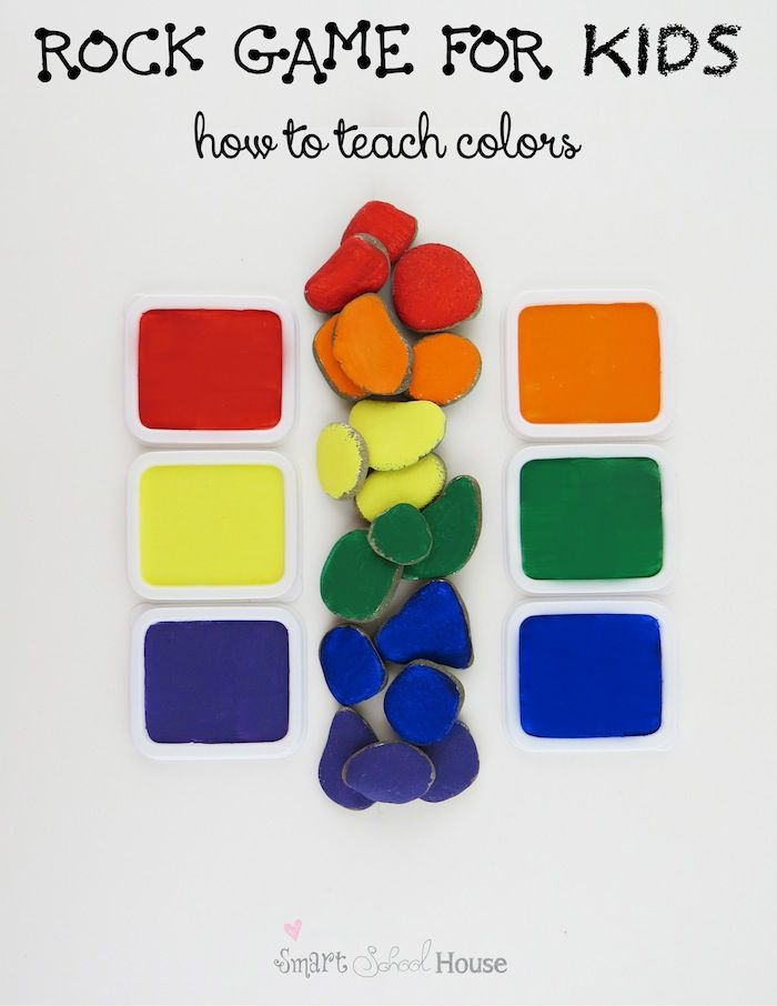 teaching children about colors | Rock games, Child and Smart school