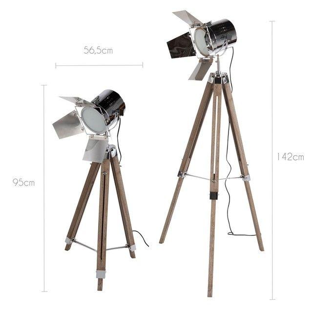 Lampadaire Trepied Style Projecteur De Cinema Gib La Redoute Interieurs Lamp Decor