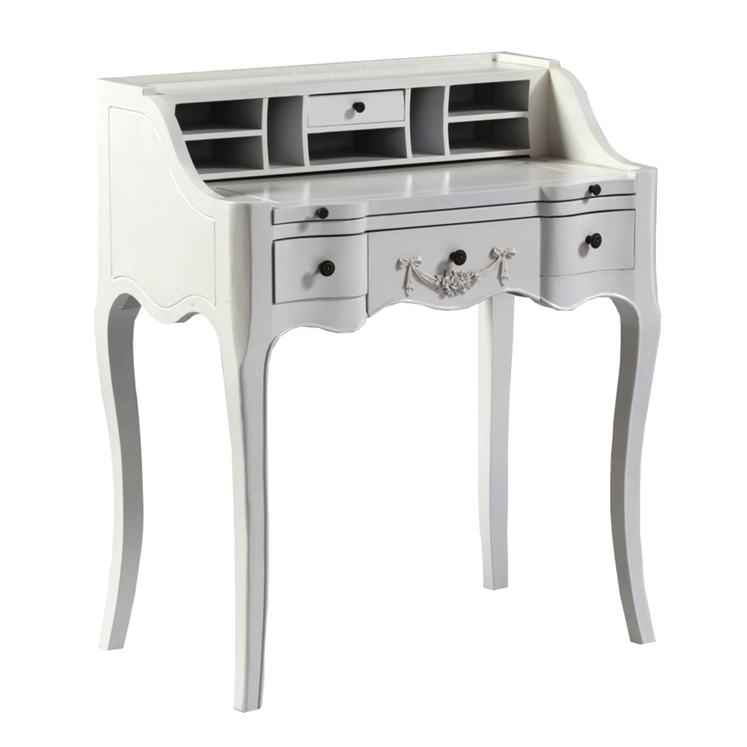 ACHICA | Antique White French Writing Desk | White writing ...