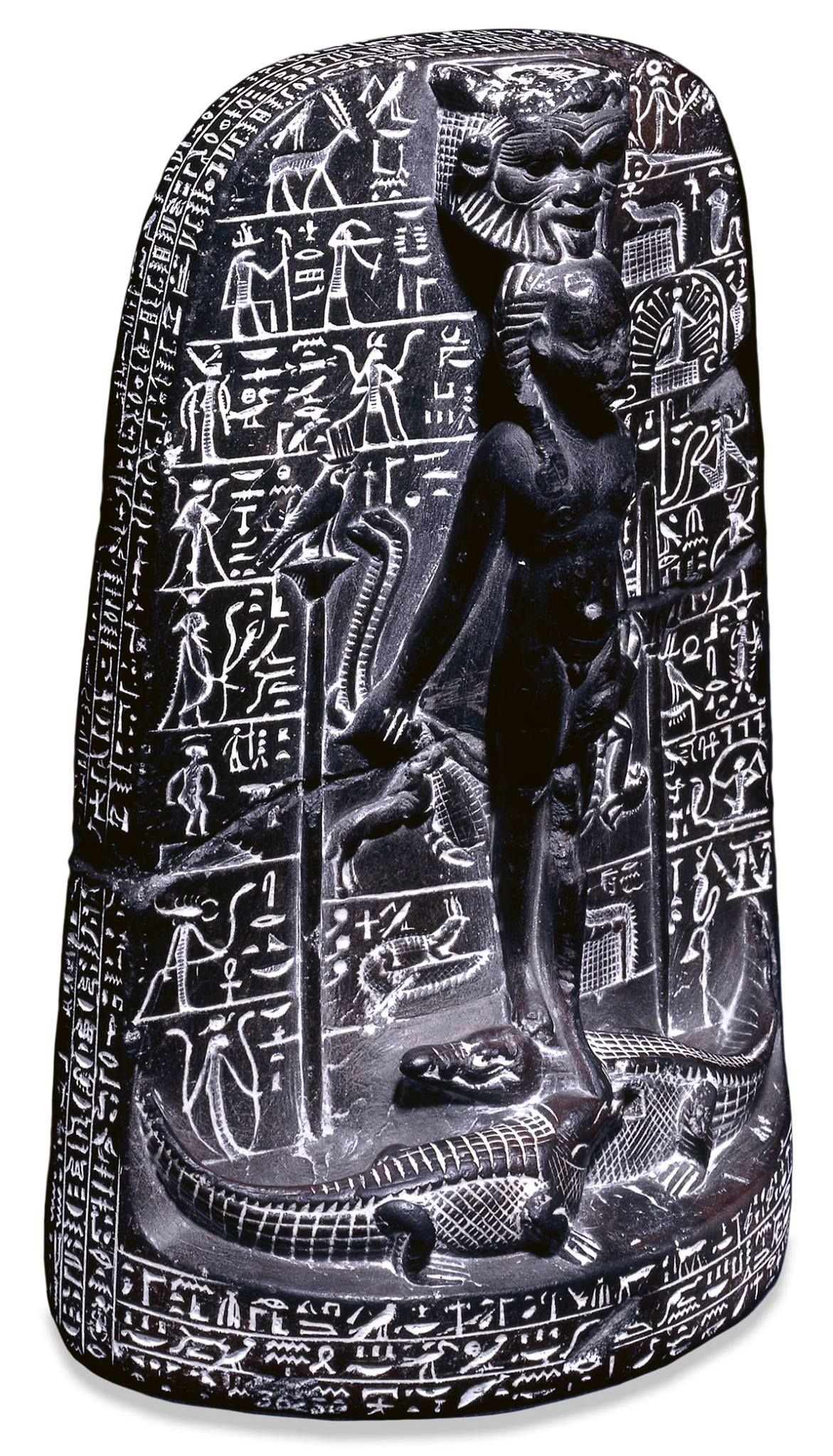 This Stone Cippus Shows The God Horus Fending Off
