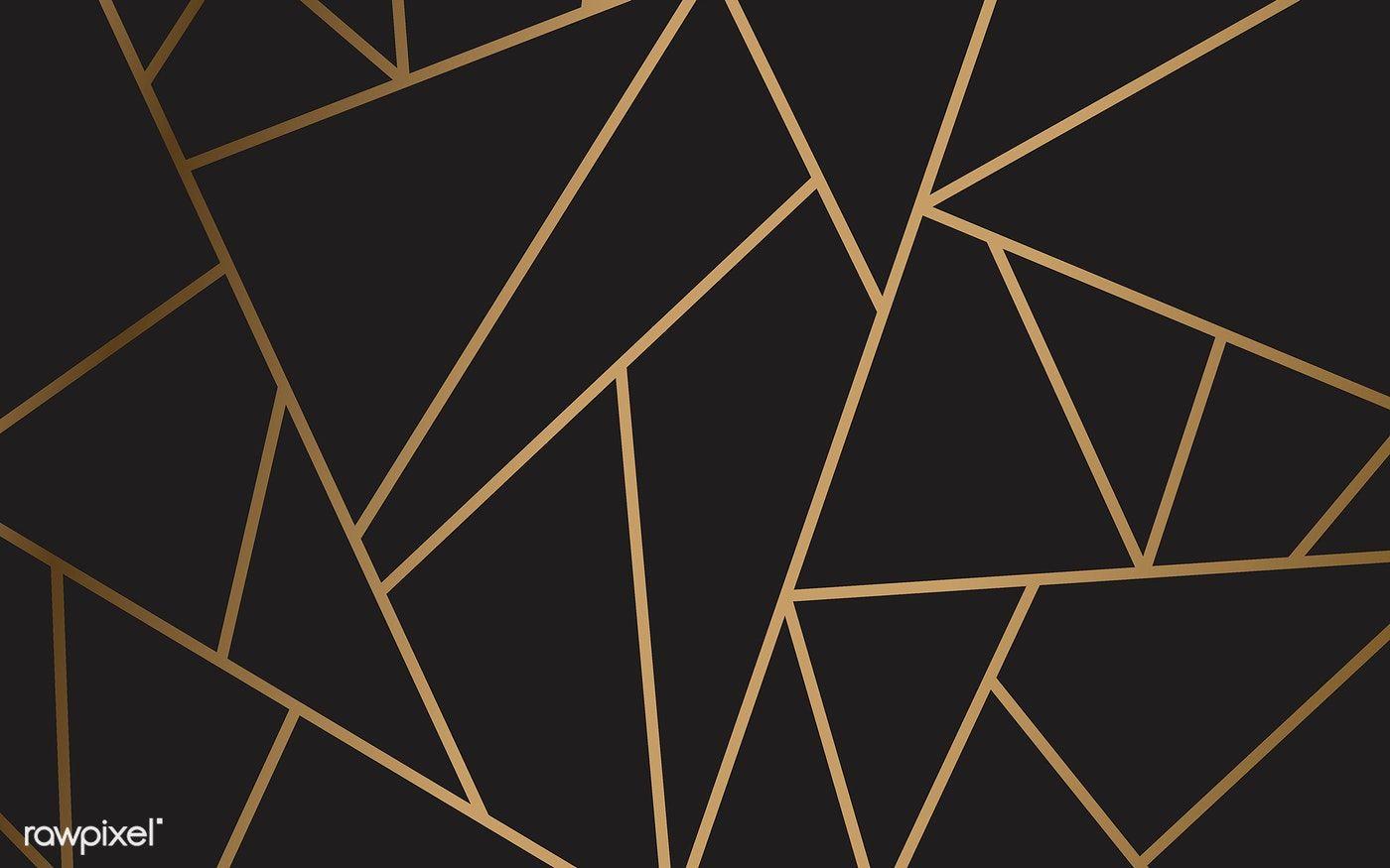 Download Premium Vector Of Modern Mosaic Wallpaper In Black And Gold 488926 Mosaic Wallpaper Modern Mosaics Gold Geometric Wallpaper