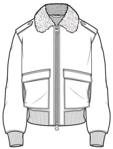 Key Jacket Aviator Fashion Design Sketches Fashion Illustration Fashion Figures