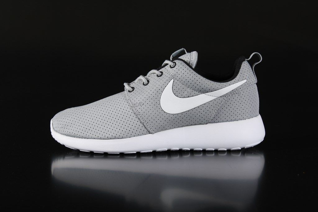 Best Drop Shipping Nike Roshe Suede Mens running shoes Black gray[685280-001]