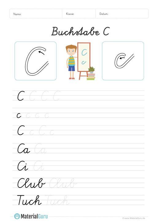 NEU: Ein kostenloses Deutsch-Arbeitsblatt zum Buchstaben C für die ...