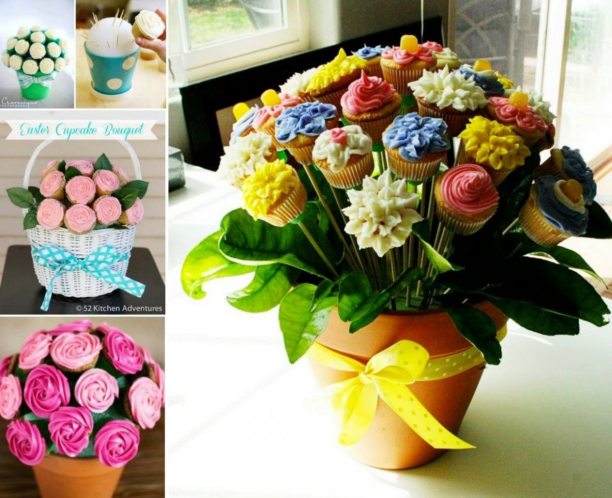 Cupcake bouquet tutorial with video cupcake flower bouquets cupcake bouquet tutorial with video the whoot izmirmasajfo