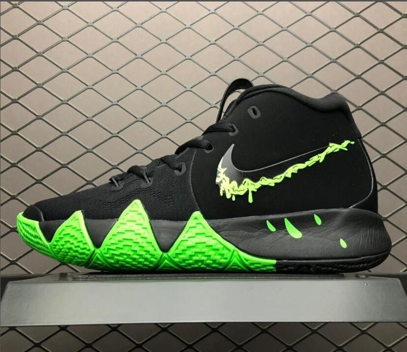 "reputable site 8ac5d 9d439 Men's Nike Kyrie 4 ""Halloween"" Black/Rage Green 943806-012 ..."