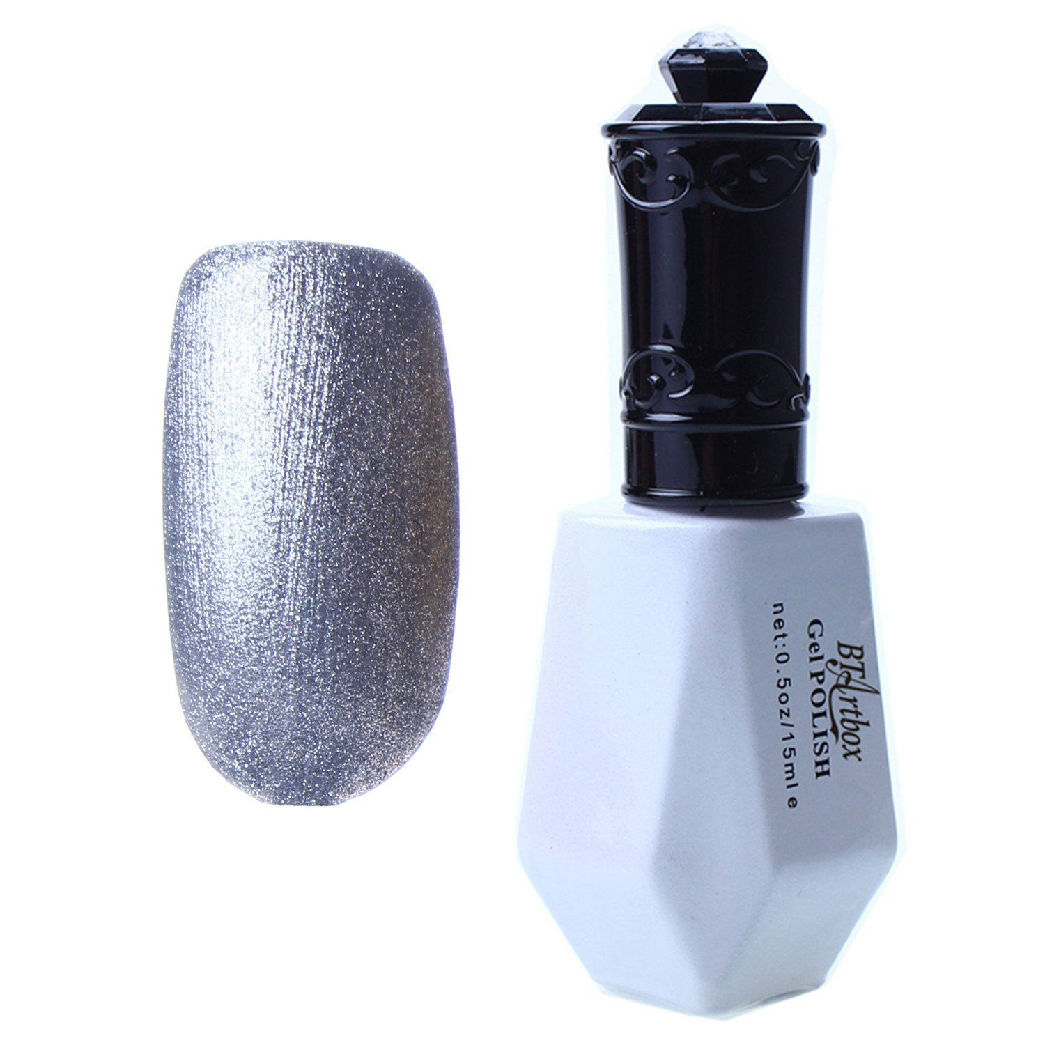 BTArtbox New Trendy Crackle Style Nail Art Polish Base Gel UV LED Light Manicure Collection Color Silver ** Find out more about the great product at the image link.