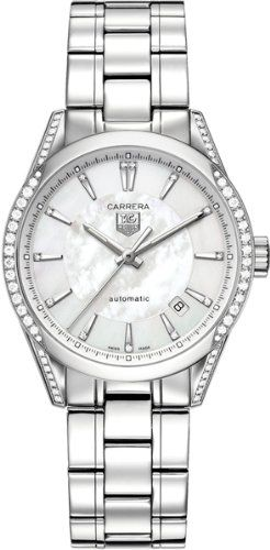 a6bb73e45f80 Tag Heuer Carrera Mother of Pearl Dial Diamond Stainless Steel Automatic Ladies  Watch WV2212BA0798 -- Read more at the image link.