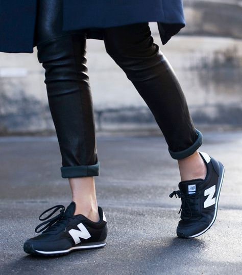 new balance cuir noir femme