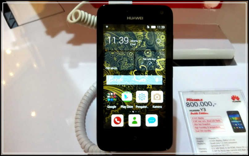 Huawei Y3 Batik Merupakan Salah Satu Produk Yang Diluncurkan