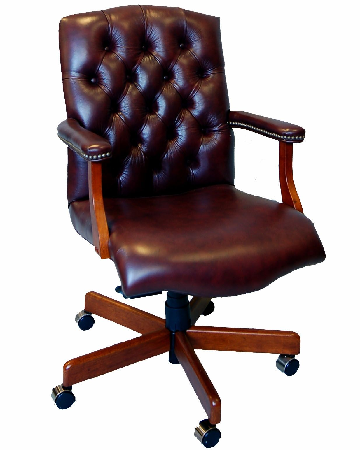 Antique Brown Leather Desk Chair - Antique Brown Leather Desk Chair Http://devintavern.com