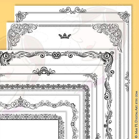 Certificate Page Border Frames Vintage Design great as Awards - downloadable page borders for microsoft word