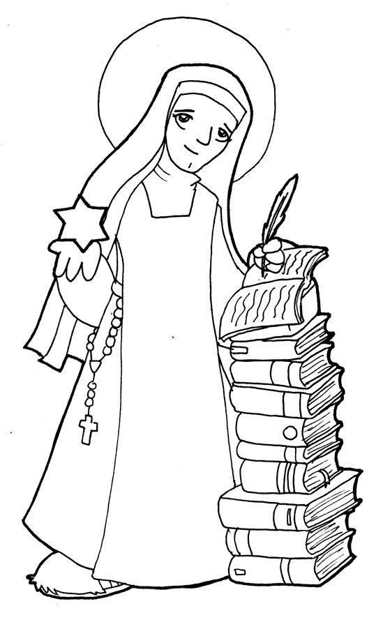 Dibujos para catequesis: SANTA TERESA BENEDICTA DE LA CRUZ (EDITH ...