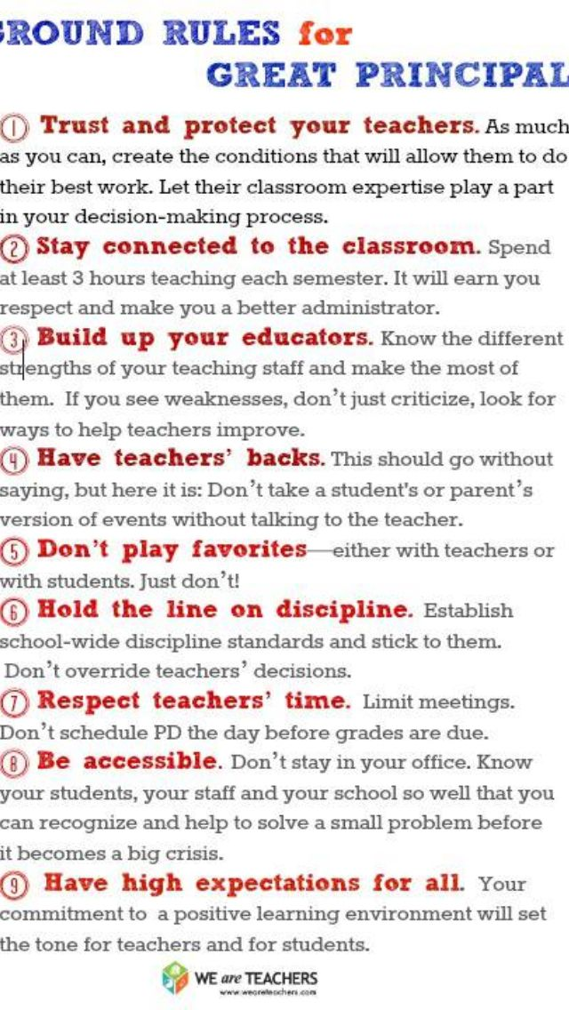 Things A Principal Should Know School Leader Teacher