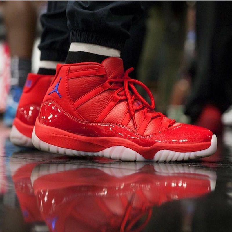 4c96061a8b728b Chris Pauls Wears An Exclusive Air Jordan 11 Clippers PE