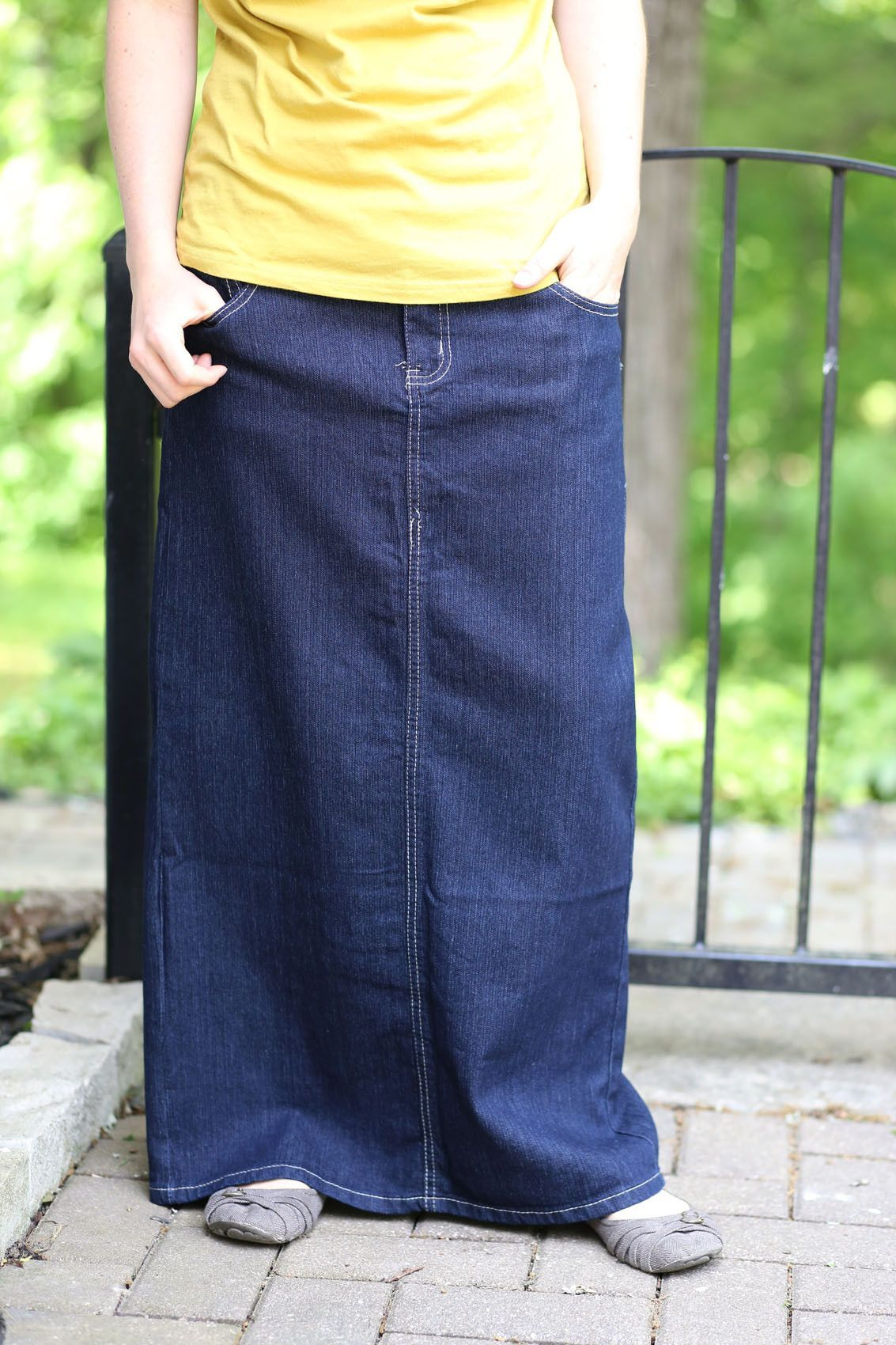 0dc25e9c13 Denim Skirts Long Modest | Saddha