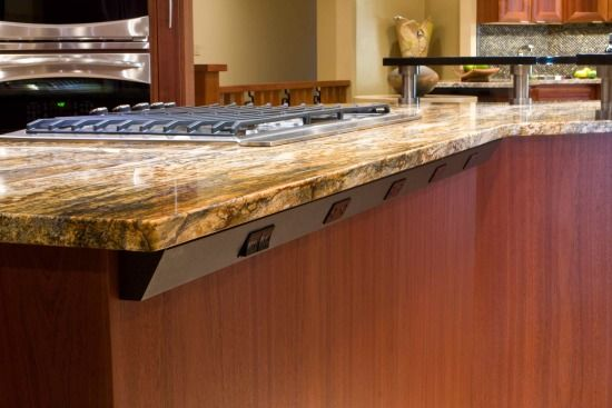 Angle Power Strip Under Counter Top Overhang Kitchen Island Power Strip Homemade Kitchen Island Kitchen Outlets