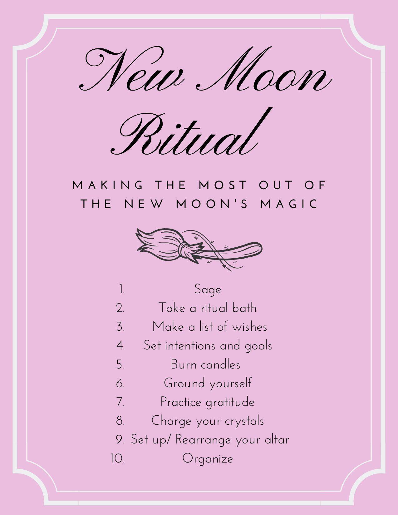 New Moon Ritual Newmoonritual How To Do A New Moon Ritual