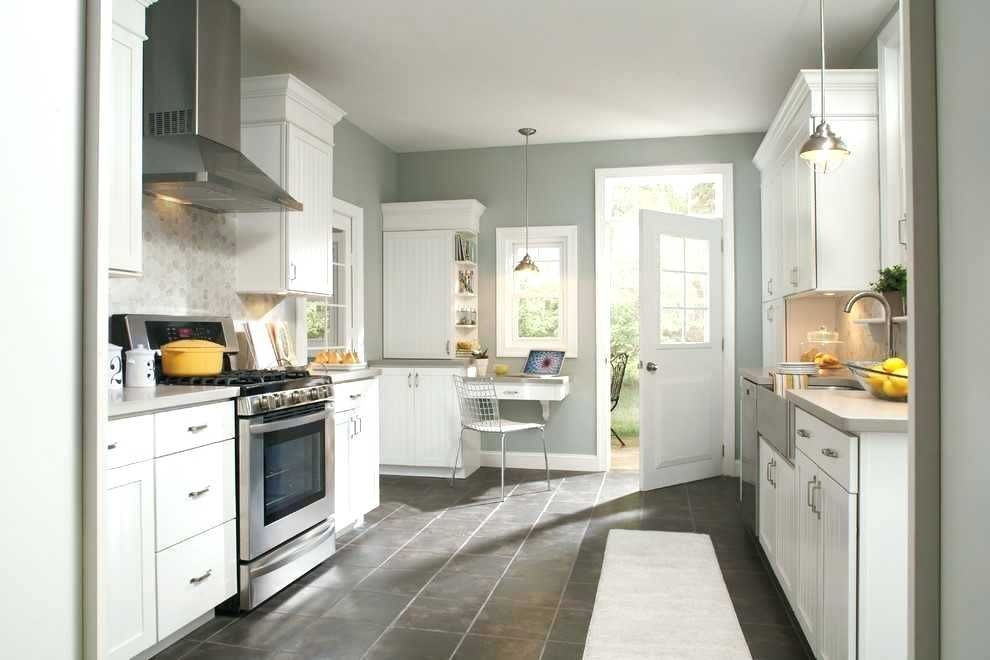 Grey Green Paint Color Kitchen Grey Kitchen Walls Beadboard Kitchen Kitchen Design