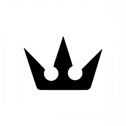 Crown Kingdom Hearts Symbol Logo Vinyl Decal Ds 3ds Xl Mutter