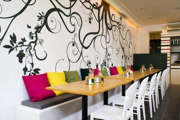 Restaurant Wall Design Love Colours Restaurant Interior Design