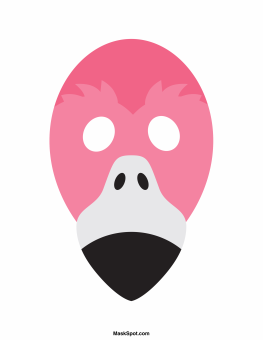 Flamingo mask templates including a coloring page version of the flamingo mask templates including a coloring page version of the mask free printable pdf at pronofoot35fo Images