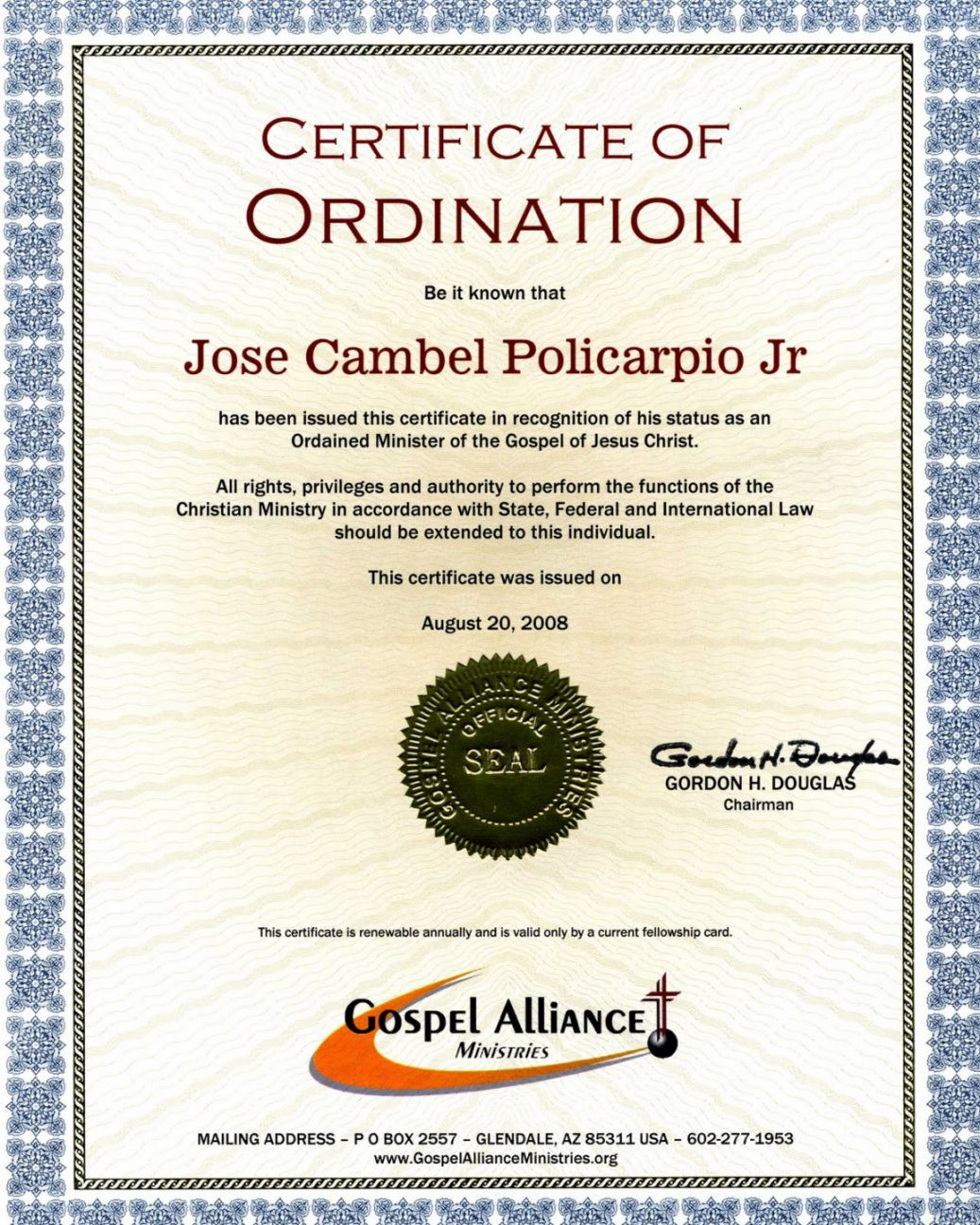 Browse Our Printable Pastor Ordination Certificate Template Certificate Templates Certificate Of Completion Template Business Plan Template